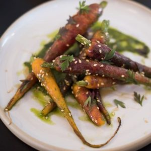 multi-colored carrots on a plate