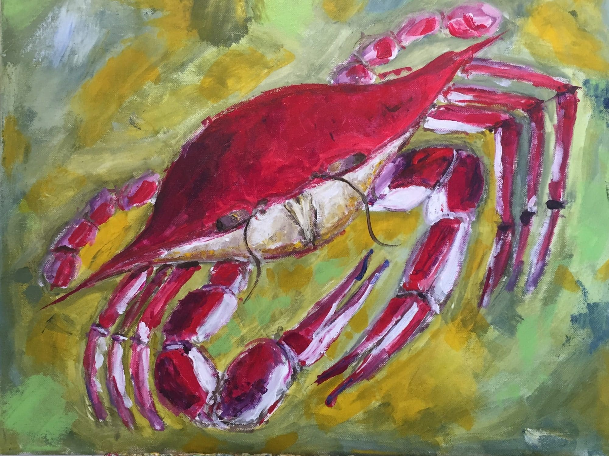 painting of a crab