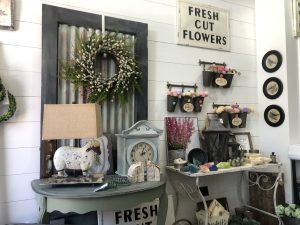 farmhouse-style homegoods in a local shop